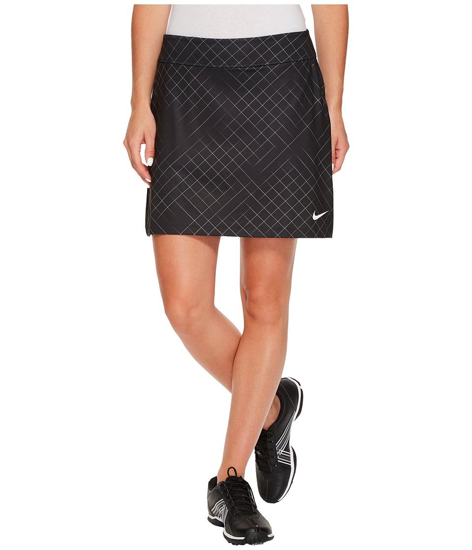Nike Golf Tournament Knit Print Skort (Black/Flat Silver) Women