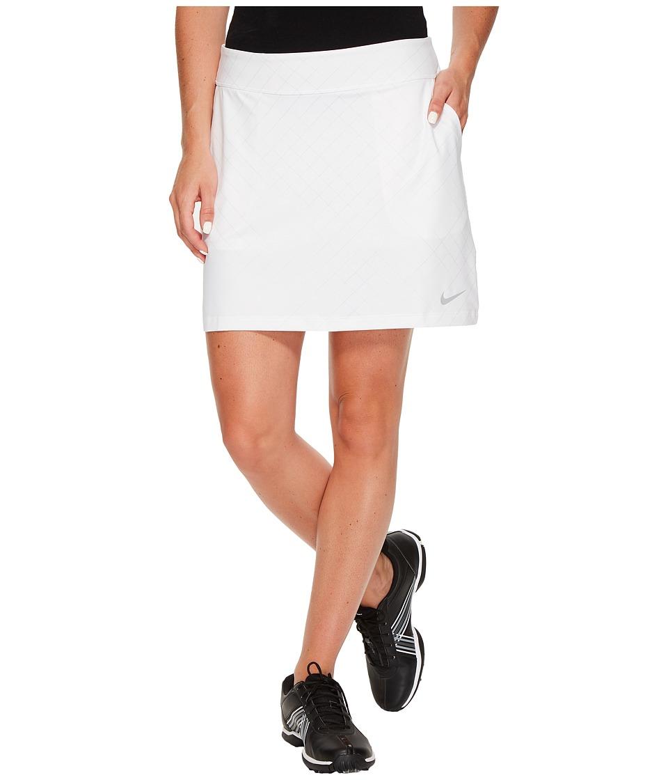Nike Golf Tournament Knit Print Skort (White/Flat Silver) Women