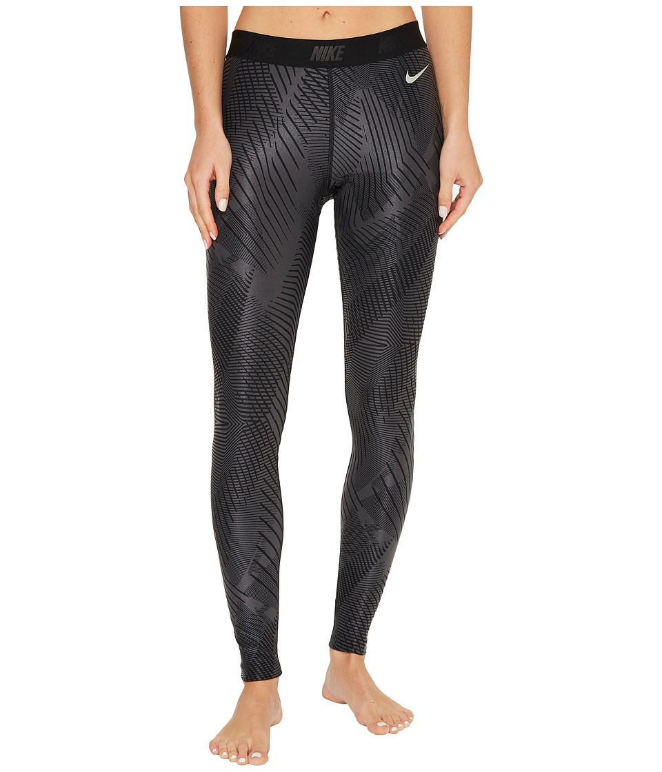 Nike Golf Printed Tights (Anthracite/Black/Flat Silver) Women