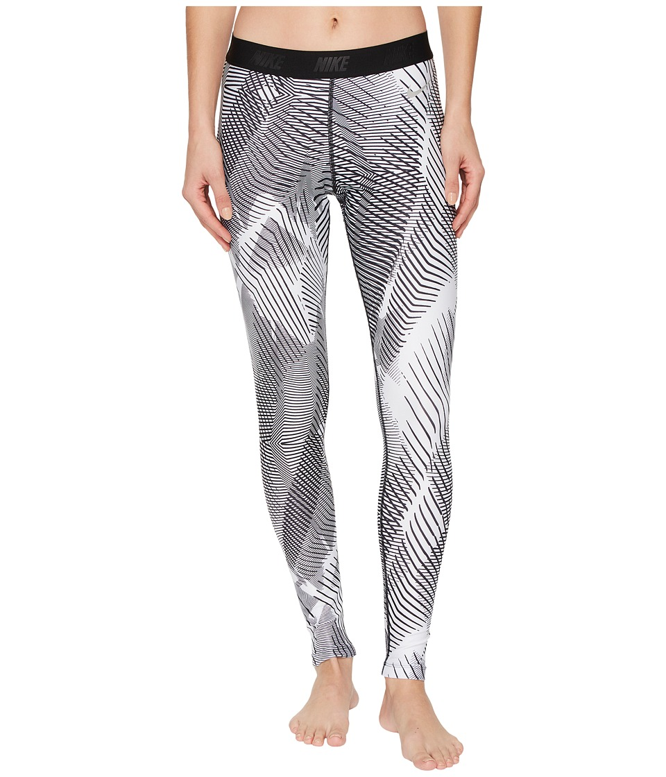 Nike Golf Printed Tights (White/Black/Flat Silver) Women