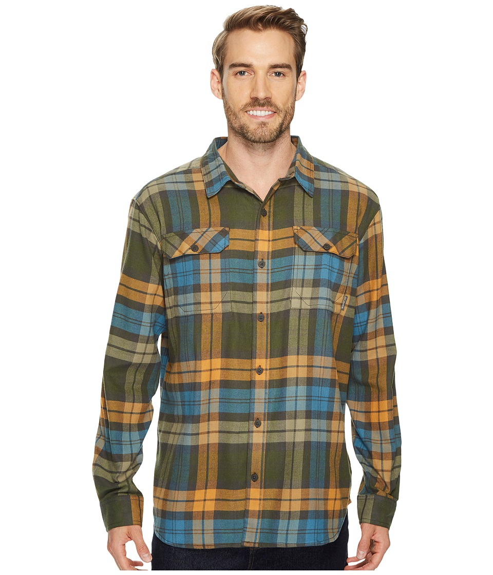 Columbia Flare Guntm Flannel III Long-Sleeve Shirt (Canyon Gold Blanket Plaid) Men