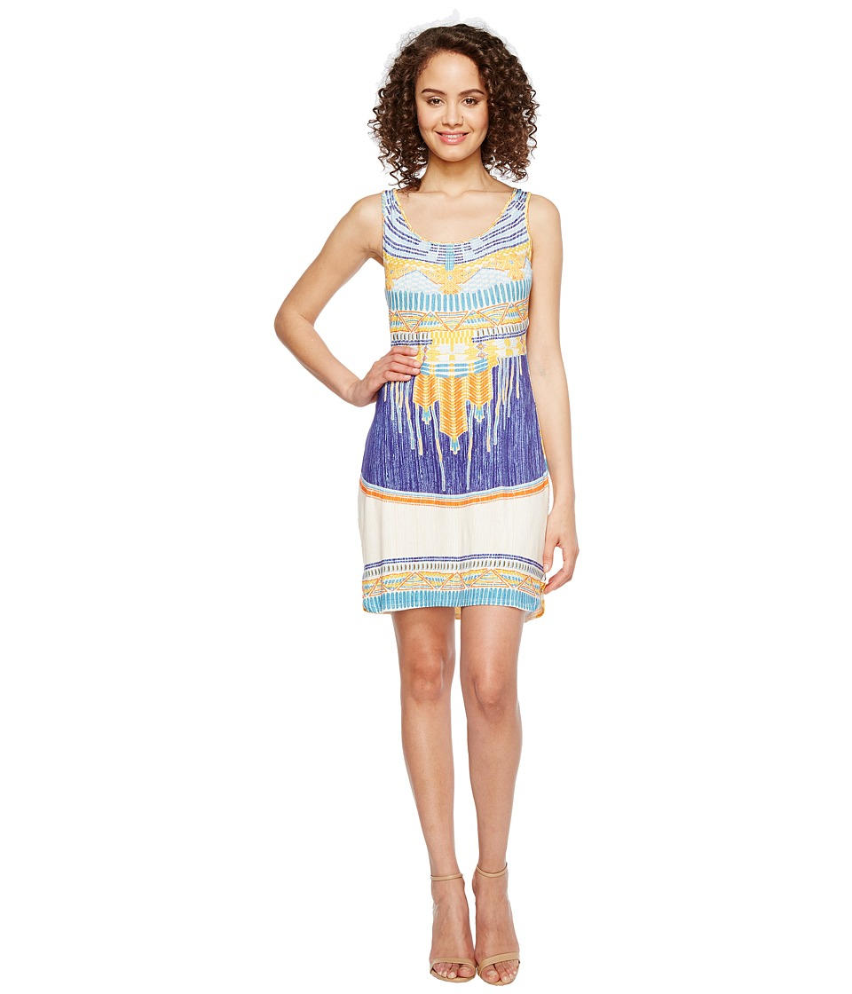 Hale Bob Summer Spirit Rayon/Spandex Knit Tank Dress (Blue) Women