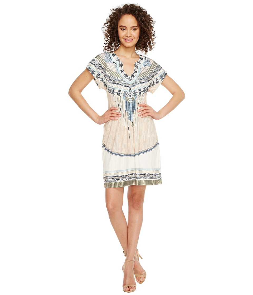 Hale Bob - Summer Spirit Microfiber Jersey Dress (Beige) Women's Dress