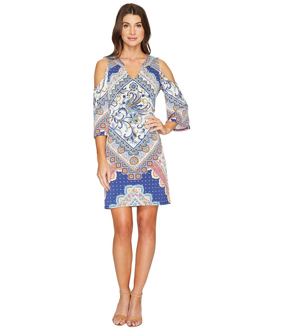 Hale Bob - Beautiful Creatures Microfiber Jersey Cold Shoulder Dress (Navy) Women's Dress