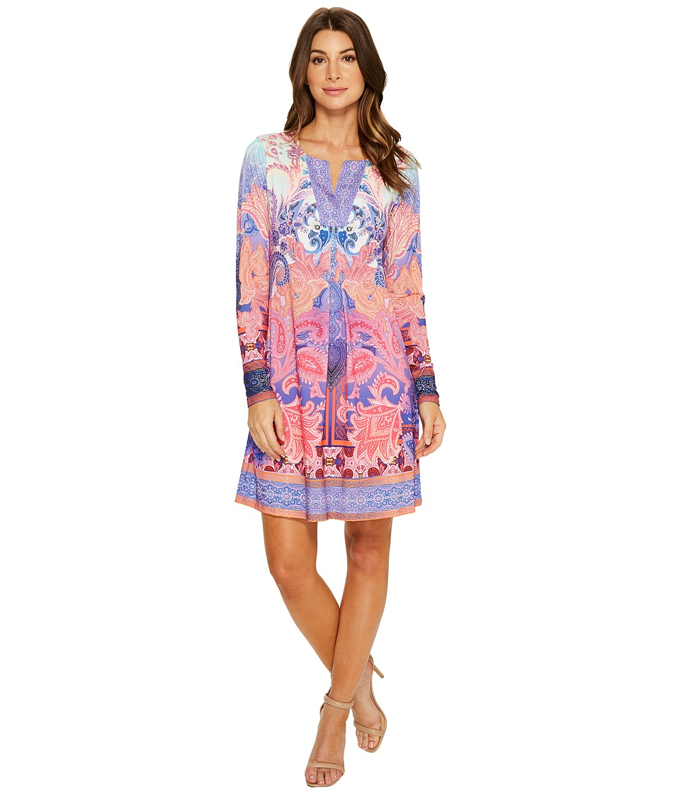 Hale Bob Hot Spots Microfiber Jersey Dress (Fuchsia) Women