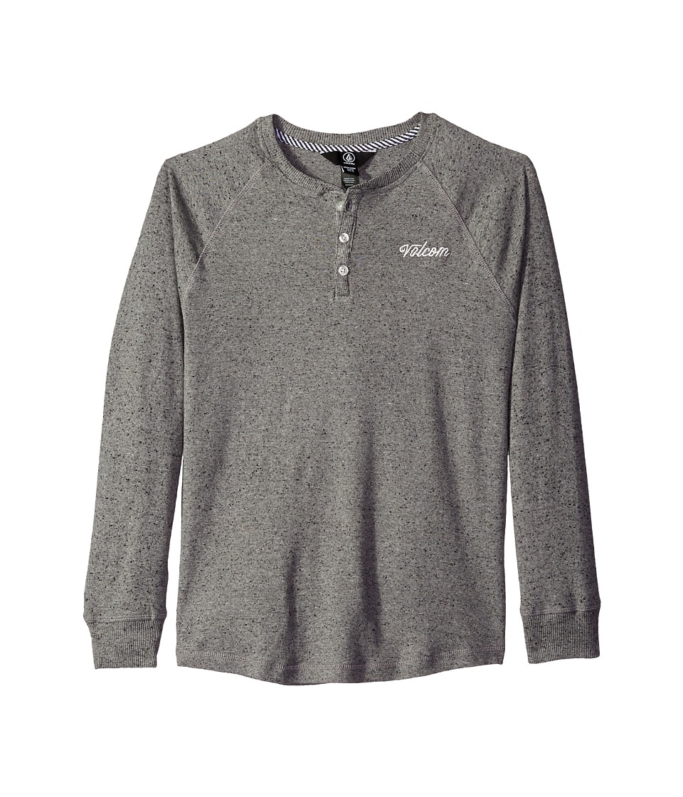 Volcom Kids - Fowler Crew Long Sleeve (Big Kids) (Grey) Boy's Clothing