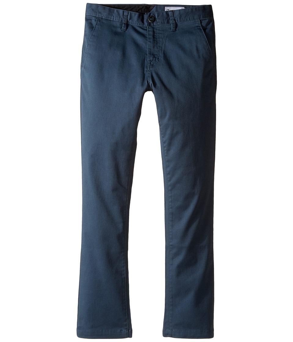 Volcom Kids - Frickin Modern Stretch Chino Pants (Big Kids) (Airforce Blue) Boy's Casual Pants