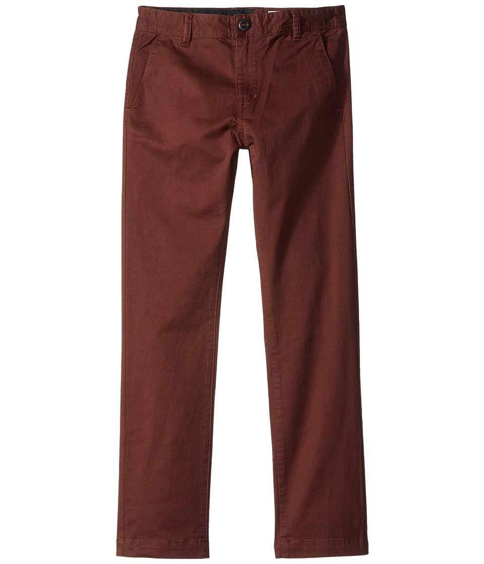 Volcom Kids - Frickin Slim Chino Pants (Big Kids) (Plum) Boy's Casual Pants