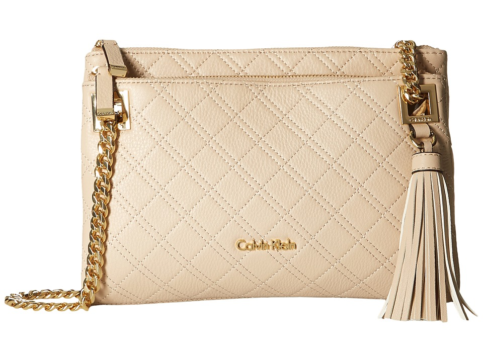 Calvin Klein - Addie Quilted Pebble Crossbody (Wheat) Cross Body Handbags