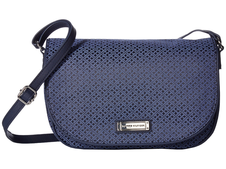 Tommy Hilfiger - Josephine II LG Saddle Bag (Navy/Lapis) Cross Body Handbags