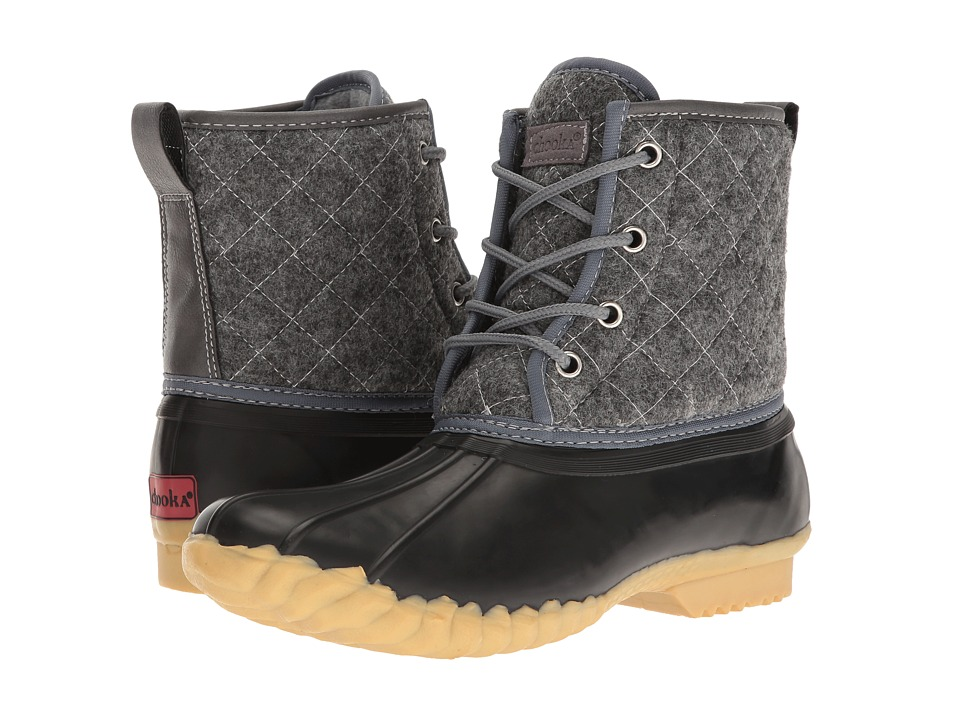 Chooka Eastlake Quilted Duck Boot (Charcoal) Women