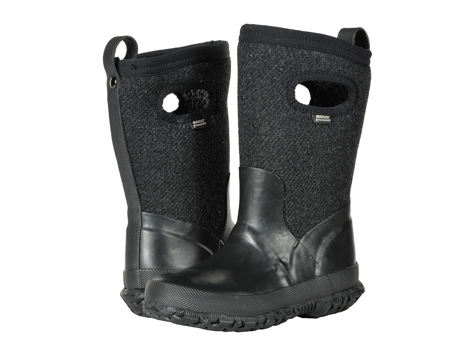 Bogs Kids Crandall Wool (Toddler/Little Kid/Big Kid) (Black) Girls Shoes