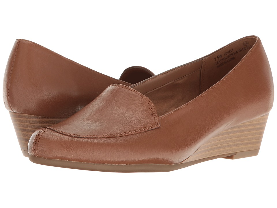 Aerosoles - Lovely (Dark Tan Leather) Women's Flat Shoes