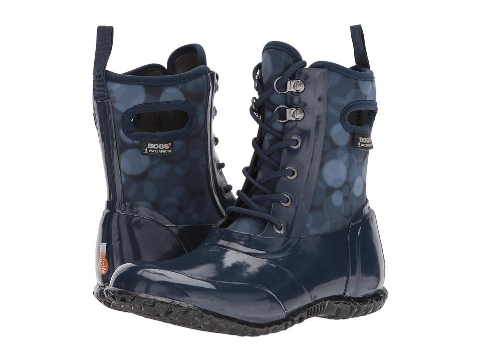 Bogs Kids Sidney Lace Rain (Toddler/Little Kid/Big Kid) (Dark Blue Multi) Girls Shoes