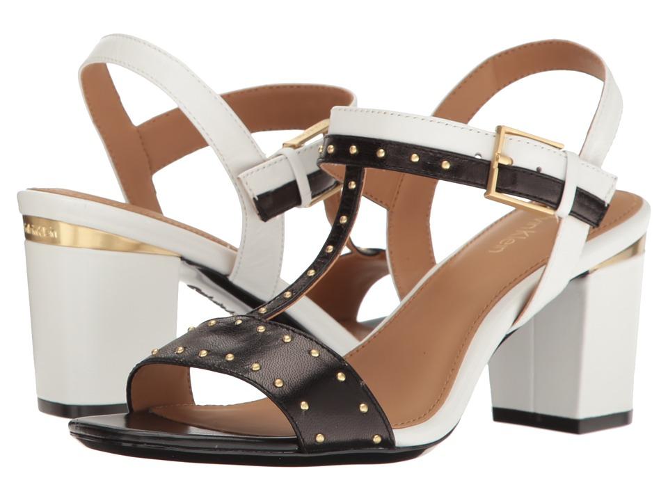 Calvin Klein - Carline (Black/Platinum White Leather) Women's Shoes