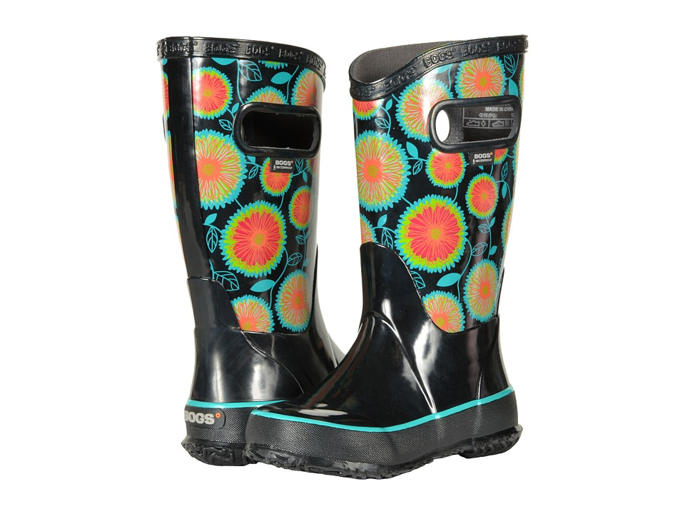 Bogs Kids Rain Boot Wildflowers (Toddler/Little Kid/Big Kid) (Black Multi) Girls Shoes