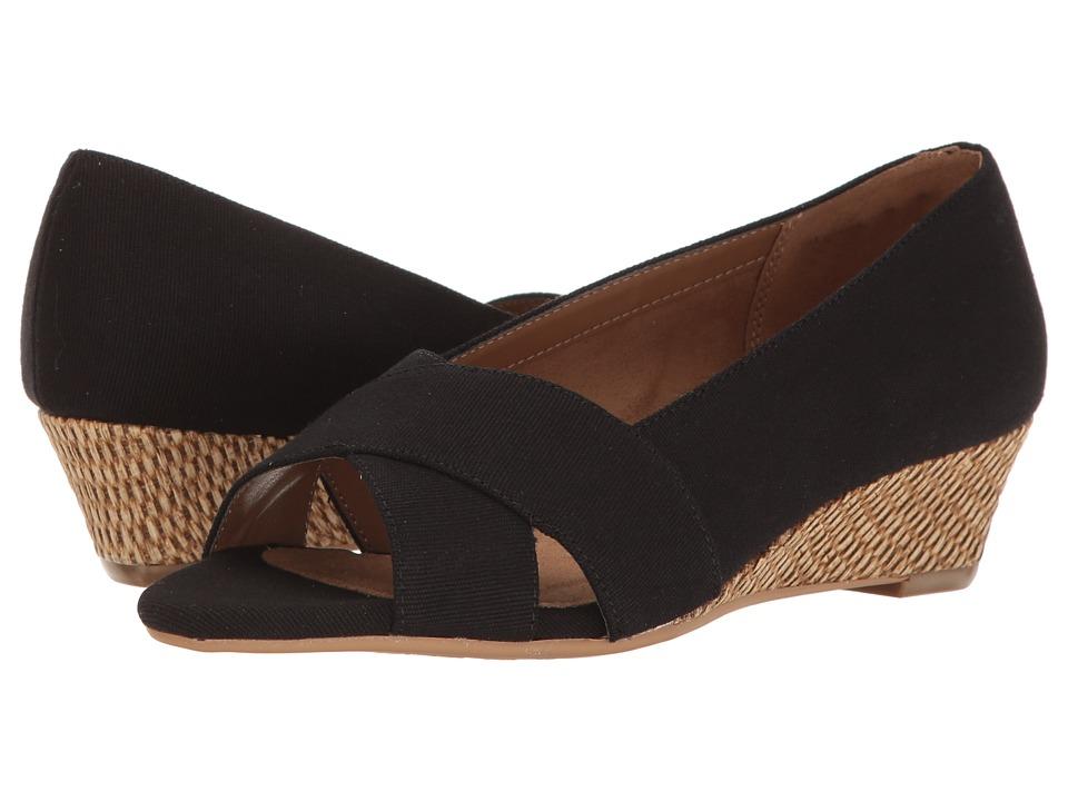 Aerosoles - Shipmate (Black Fabric) Women's Sandals