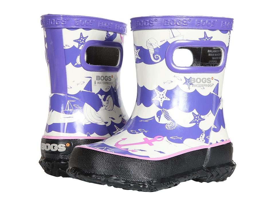 Bogs Kids Skipper at Sea (Toddler/Little Kid) (Purple Multi) Girls Shoes