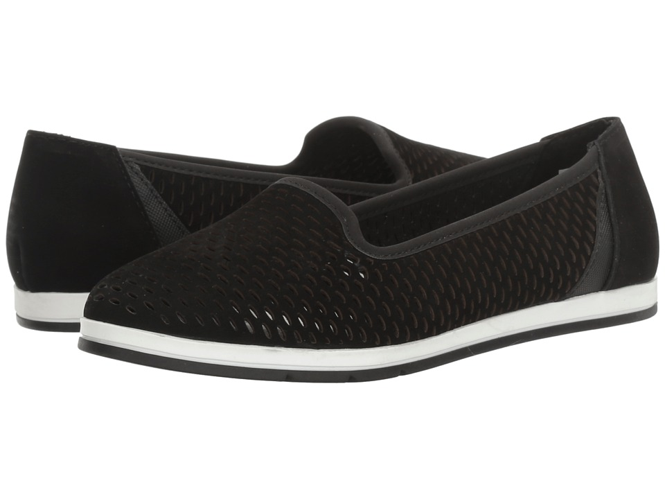 Aerosoles - Smart Move (Black Nubuck) Women's Slip on Shoes