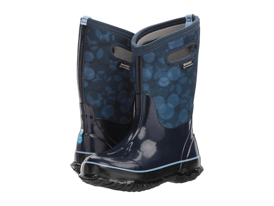 Bogs Kids Classic Rain (Toddler/Little Kid/Big Kid) (Dark Blue Multi) Girls Shoes