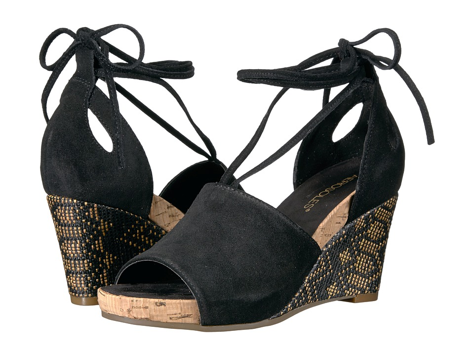 Aerosoles - Spring Plush (Black Suede) Women's Wedge Shoes