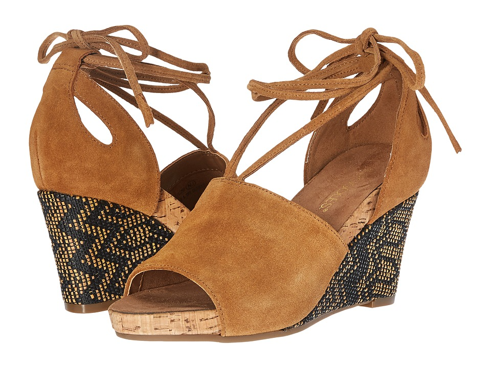 Aerosoles - Spring Plush (Dark Tan Suede) Women's Wedge Shoes