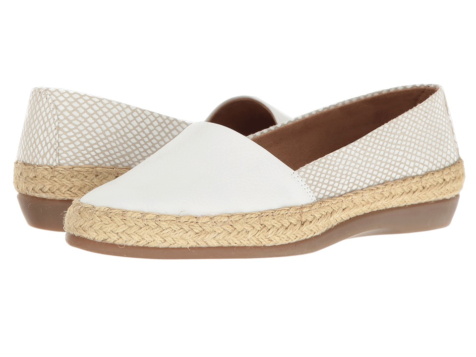 Aerosoles - Trend Report (White Combo) Women's Flat Shoes