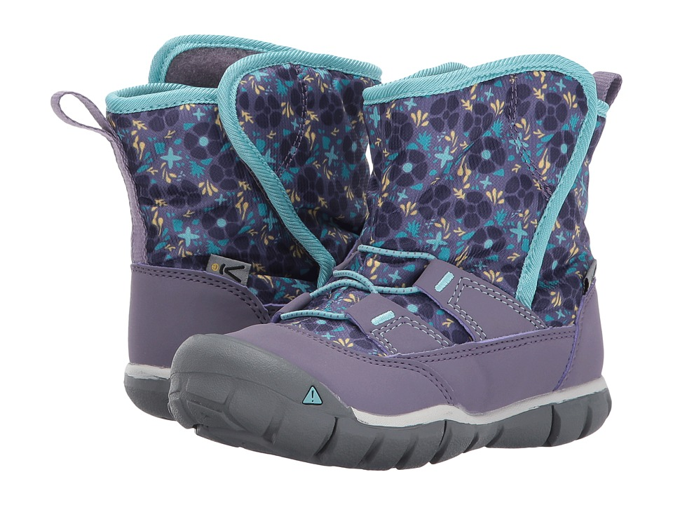 Keen Kids Peek-A-Boot (Toddler) (Montana Grape/Aqua Haze) Boys Shoes