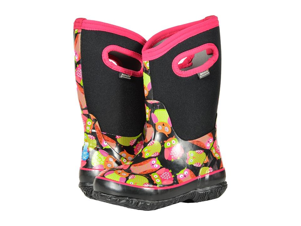 Bogs Kids Classic Owl (Toddler/Little Kid/Big Kid) (Black Multi) Girls Shoes
