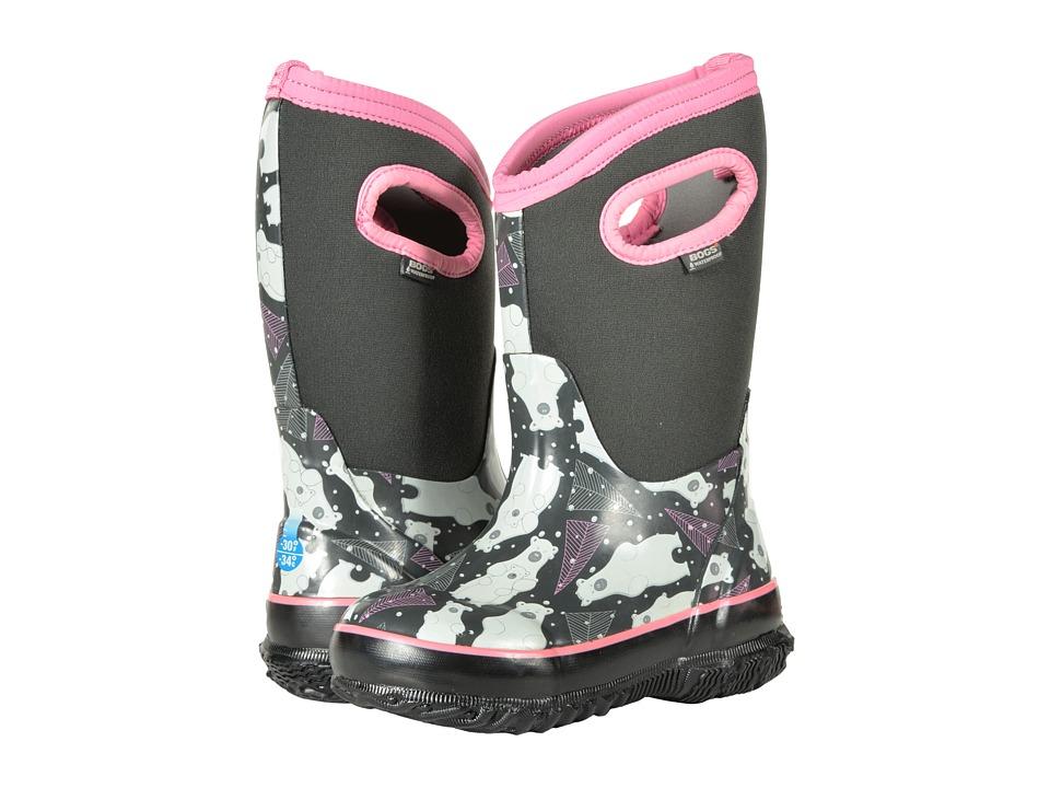 Bogs Kids Classic Bears (Toddler/Little Kid) (Dark Gray Multi) Girls Shoes