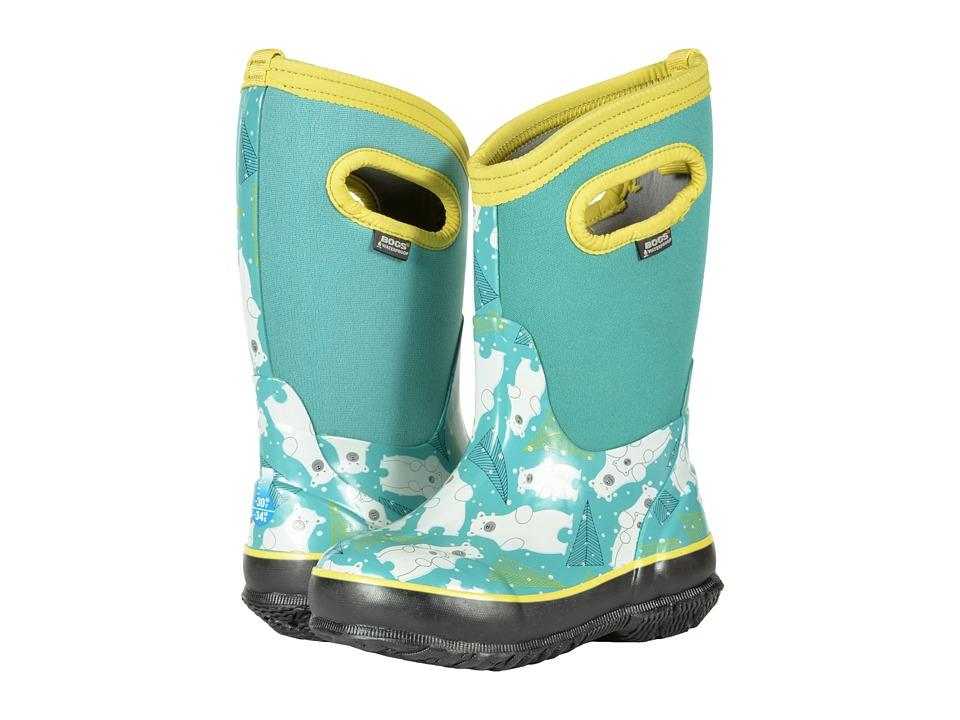 Bogs Kids Classic Bears (Toddler/Little Kid) (Aqua Multi) Girls Shoes