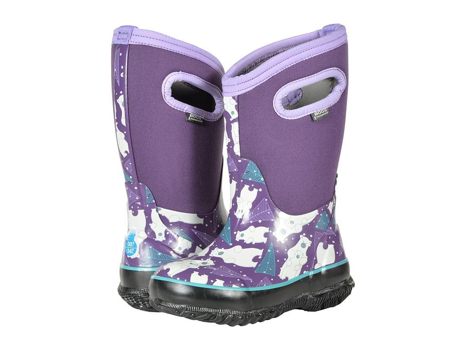 Bogs Kids Classic Bears (Toddler/Little Kid) (Purple Multi) Girls Shoes