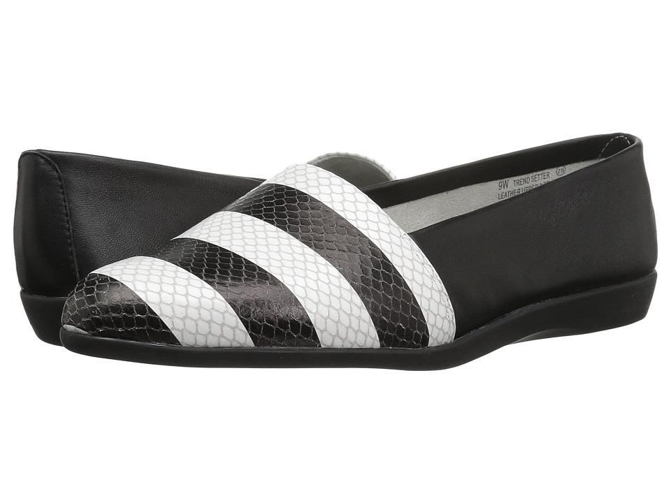 Aerosoles Trend Setter (Black/White Snake) Women