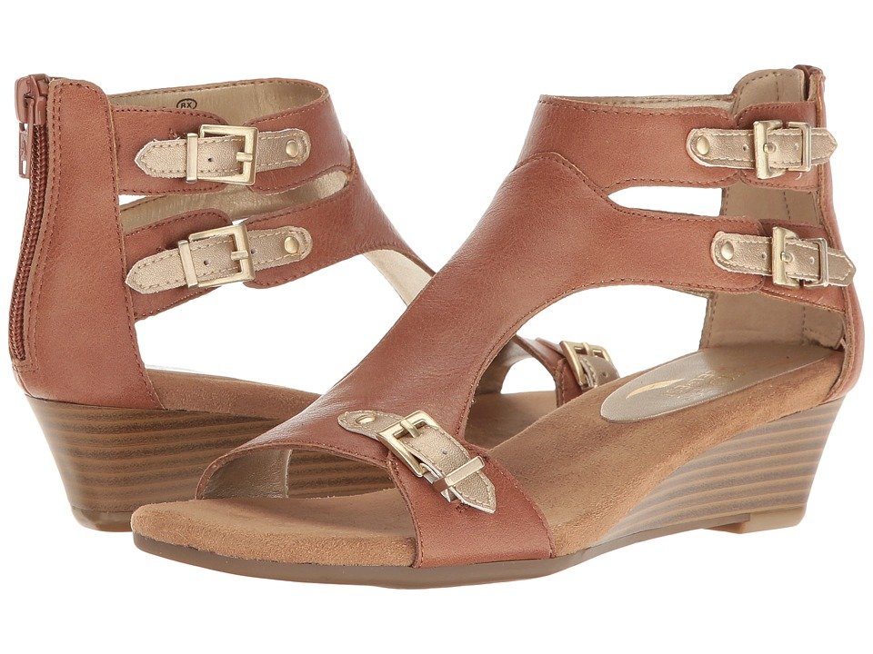 Aerosoles - Yet Another (Dark Tan Combo) Women's Wedge Shoes