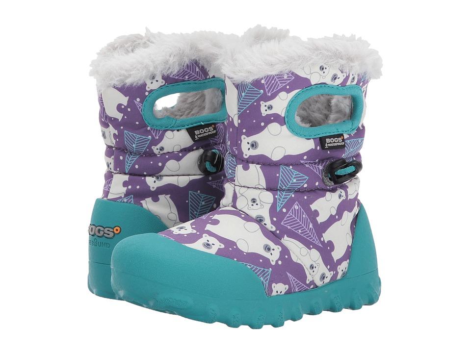 Bogs Kids B-Moc Bears (Toddler/Little Kid) (Purple Multi) Girls Shoes