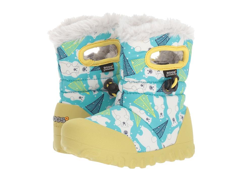 Bogs Kids B-Moc Bears (Toddler/Little Kid) (Aqua Multi) Girls Shoes
