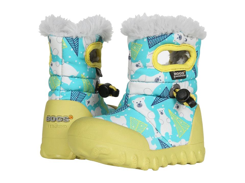 Bogs Kids B-Moc Bears (Toddler) (Aqua Multi) Girls Shoes
