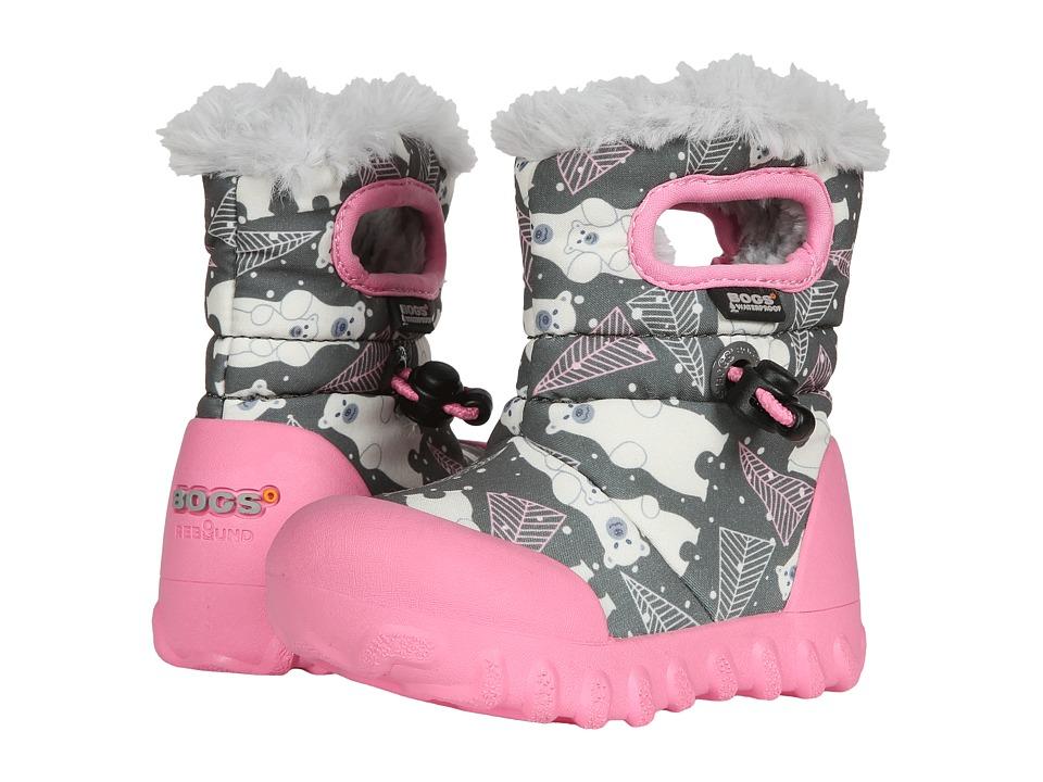 Bogs Kids B-Moc Bears (Toddler) (Dark Gray Multi) Girls Shoes