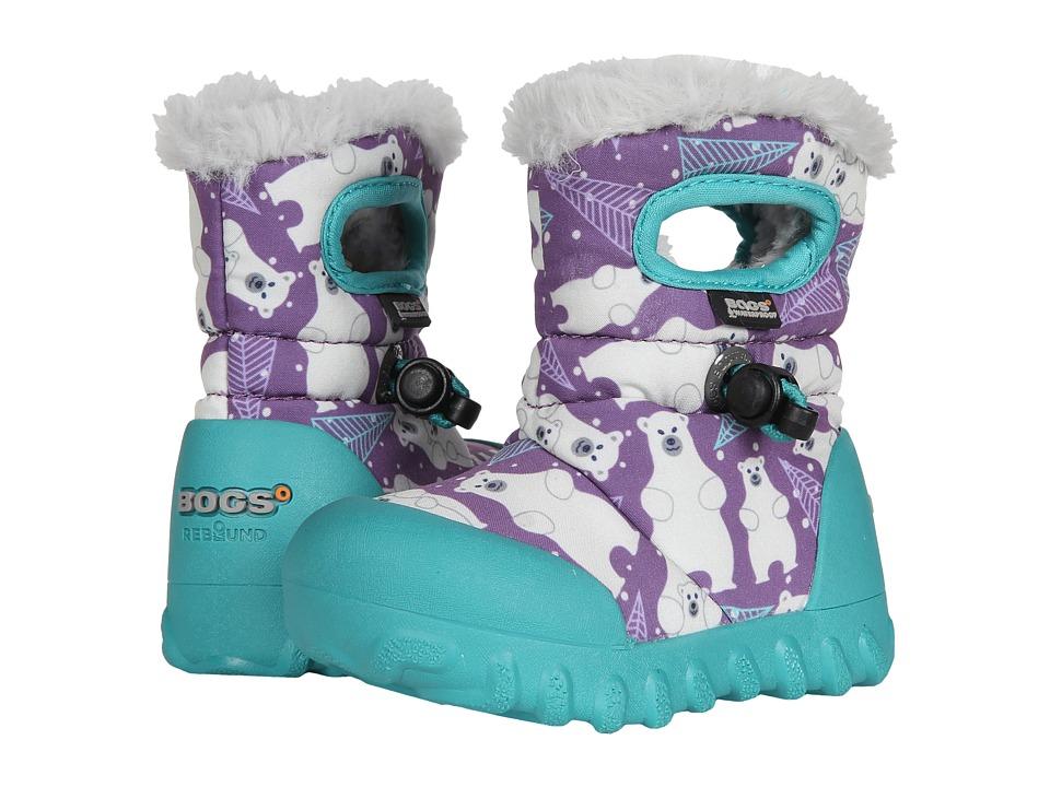 Bogs Kids B-Moc Bears (Toddler) (Purple Multi) Girls Shoes