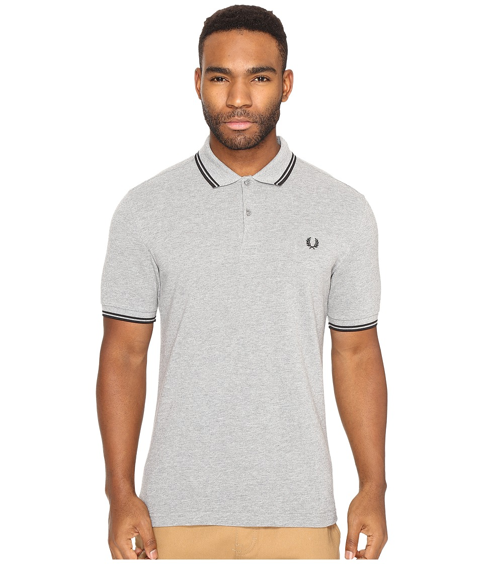 Fred Perry - Twin Tipped Shirt (Steel Marl/Black) Men's Short Sleeve Knit