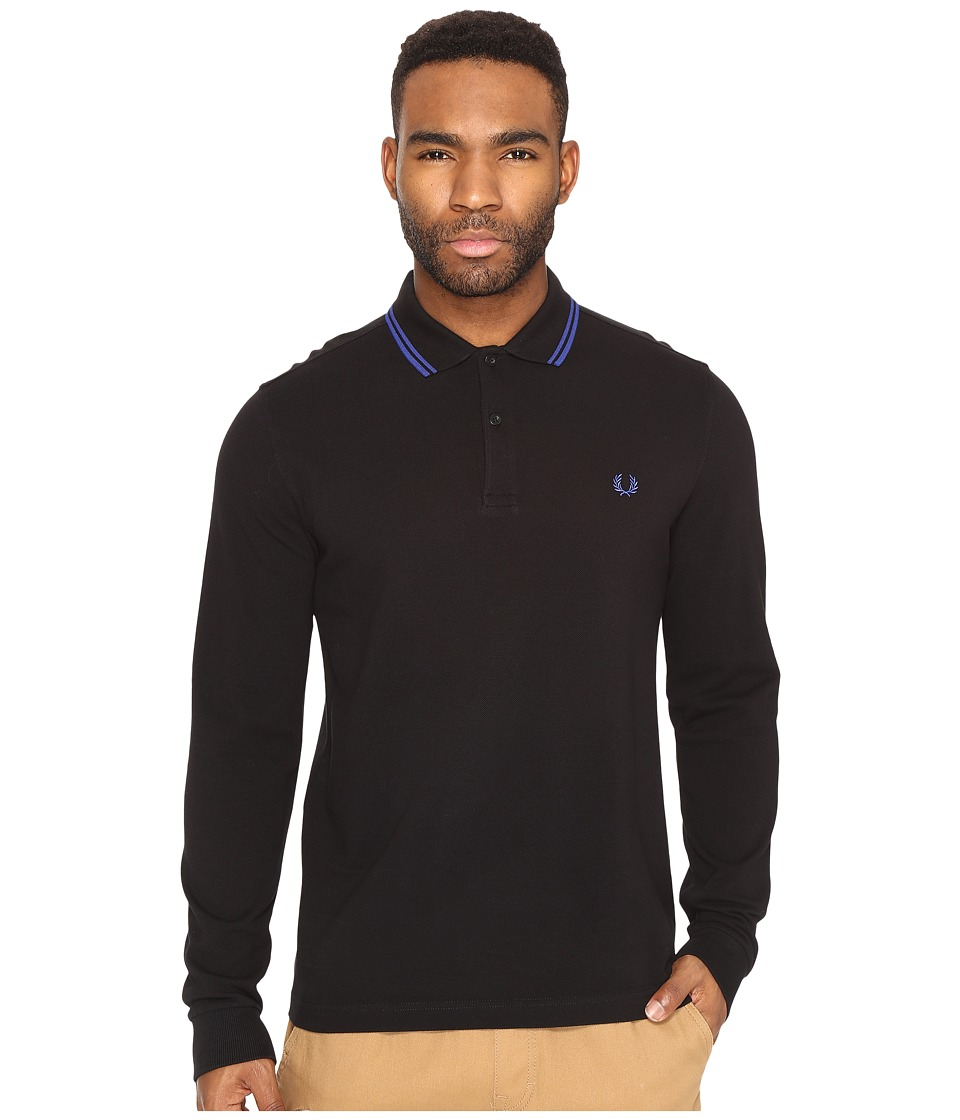 Fred Perry - Long Sleeve Twin Tipped Shirt (Black/Black) Men's Clothing
