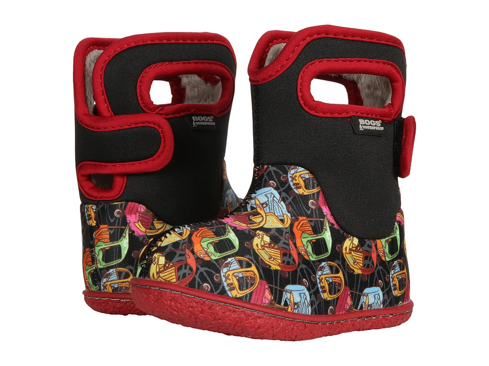 Bogs Kids Baby Bogs Kiddy Cars (Toddler) (Black Multi) Boys Shoes