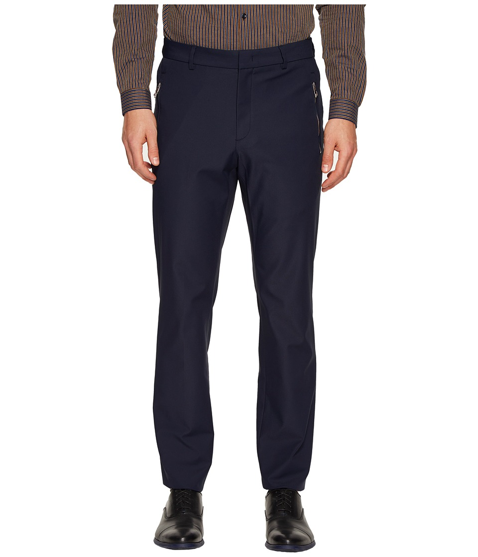 Versace Collection - Solid Trousers (Blue) Men's Casual Pants