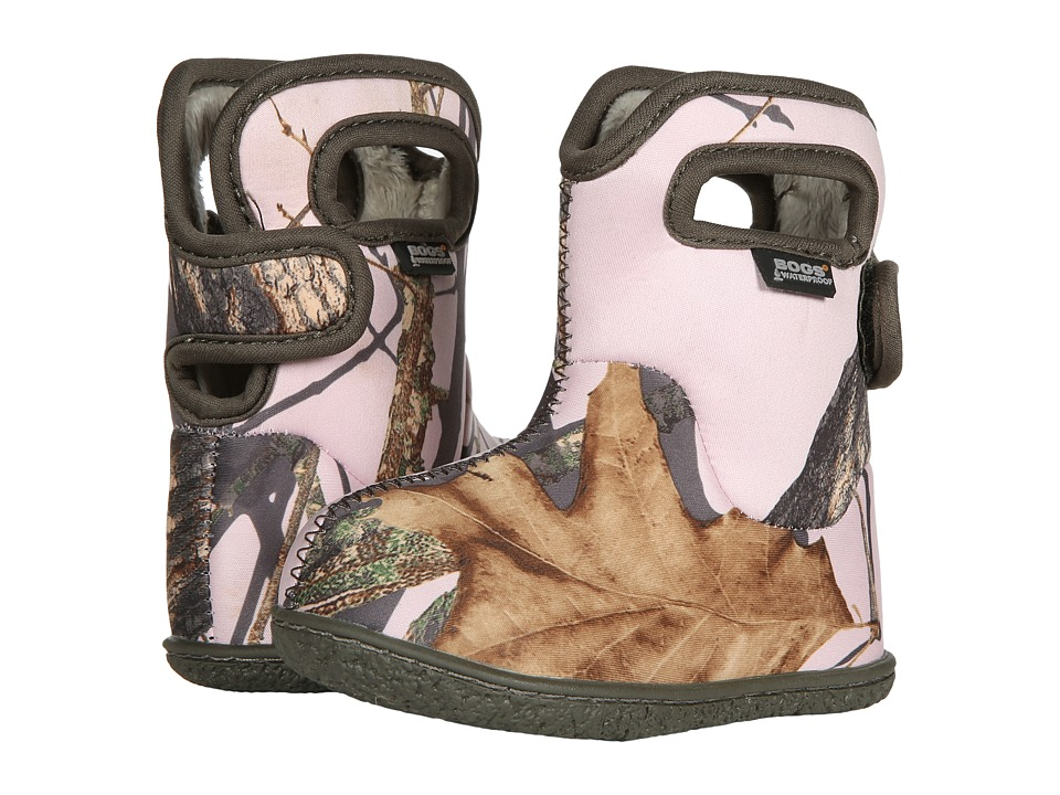 Bogs Kids Baby Bogs Camo (Toddler) (Pink Mossy Oak Country) Girls Shoes