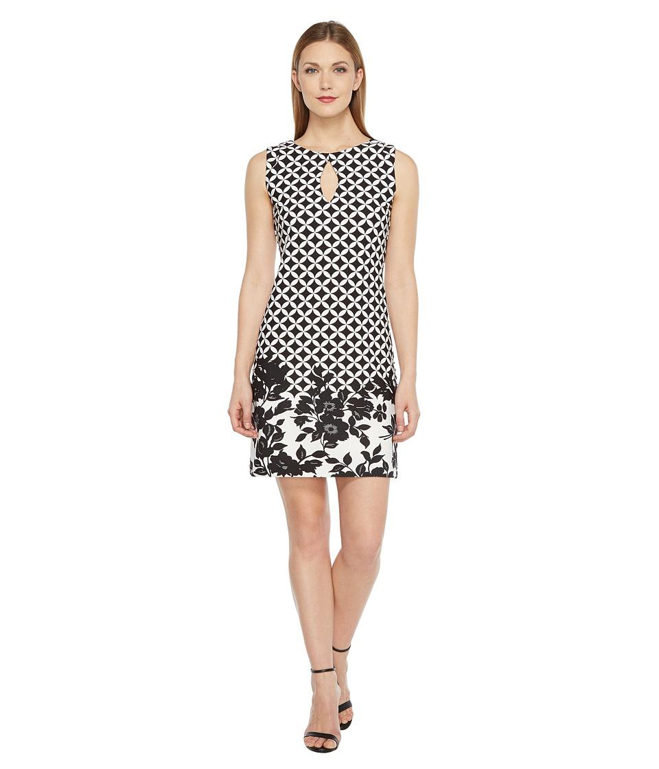 Christin Michaels - Beatrice Sleeveless Keyhole Dress (Black/Ivory) Women's Dress