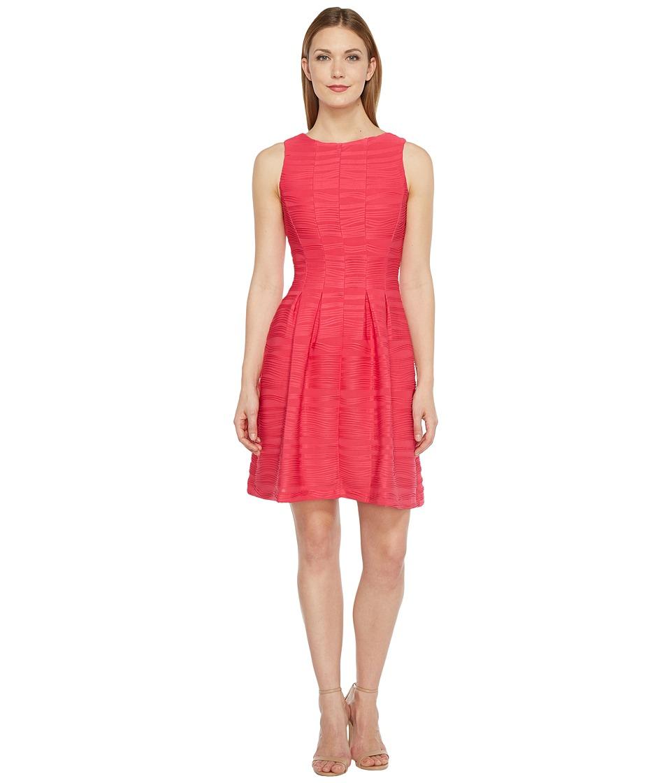 Christin Michaels - Blanche Sleeveless Fit and Flare Dress (Watermelon) Women's Dress