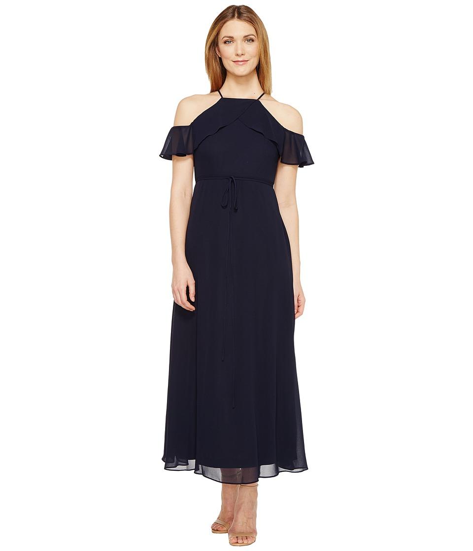 Christin Michaels Josephine Spaghetti Strap Maxi Dress (Navy) Women