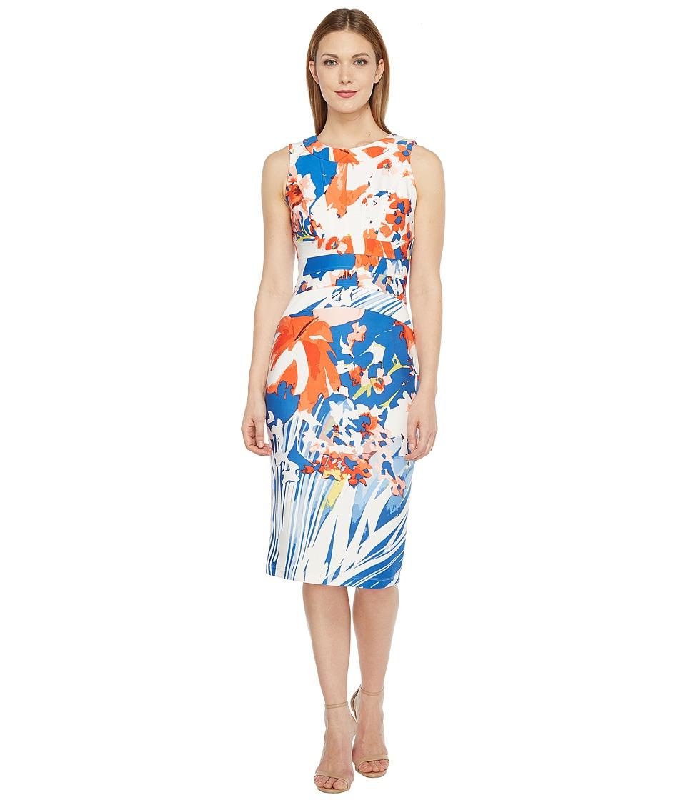 Christin Michaels - Annette Sleeveless Bodycon Dress (Blue/Multi) Women's Dress