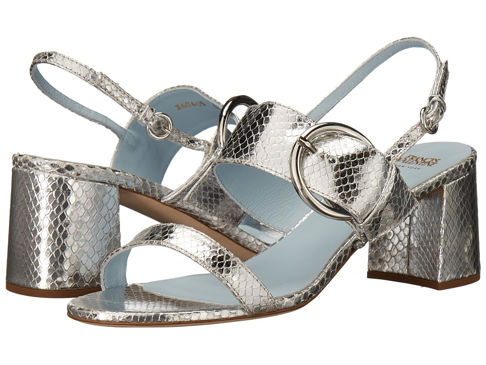 Frances Valentine - Betty (Silver Snake Print) Women's Shoes