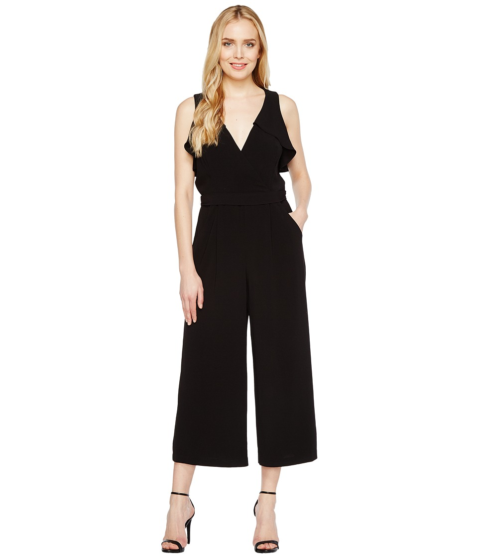 Christin Michaels - Lucinda Sleeveless Ruffle Jumper (Black) Women's Jumpsuit & Rompers One Piece